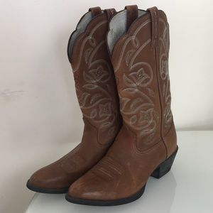 Ariat Heritage Leather Western Cowboy Boots 6.5